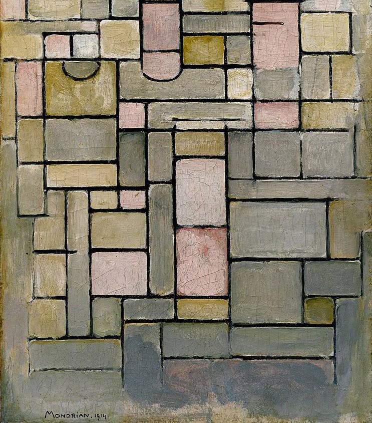 Piet Mondrian. Composition 8, 1914. Solomon R. Guggenheim Museum, Nova York, EUA_recorte