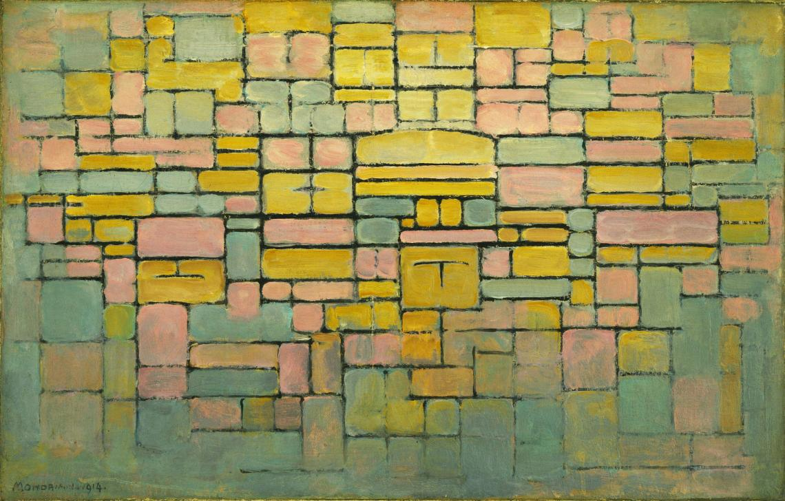 Piet Mondrian. Tableau n. 2, Composition no. V, 1914. The Sidney and Harriet Janis Collection, Australia.