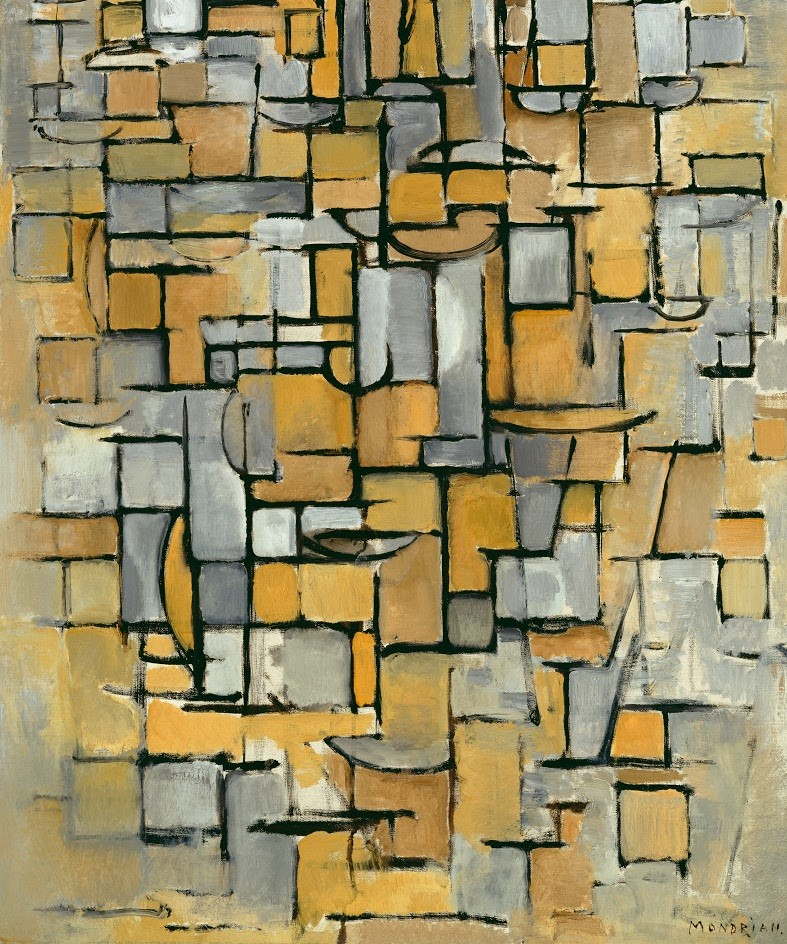 Piet Mondrian. Tableau nº 1, 1913, The Kröller-Müller Museum, Holanda, editada