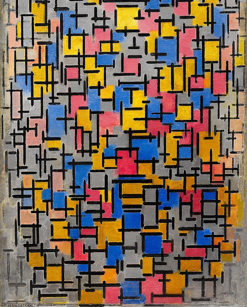 Piet Mondrian. Composition, 1916. Solomon R. Guggenheim Museum, Nova York, EUA_recorte