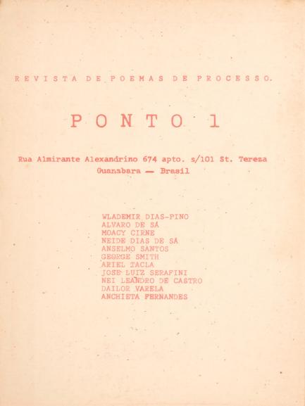 revista Ponto 1_1967